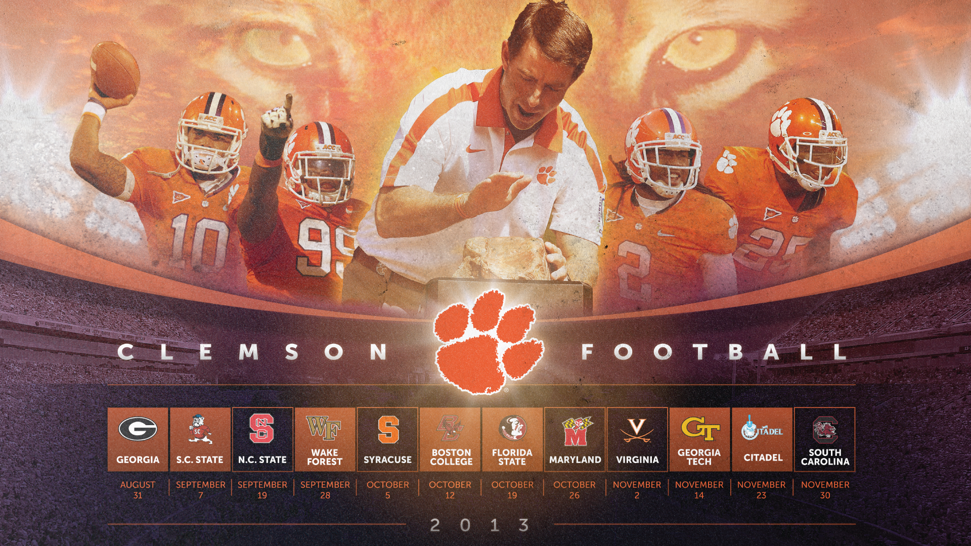 2013 clemson football wallpaper harley creative
