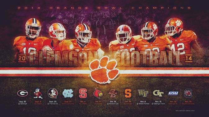 Clemson Football Wallpaper (16:9, Widescreen)