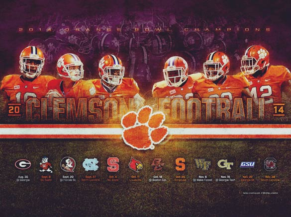 Clemson Football Wallpaper (4:3)